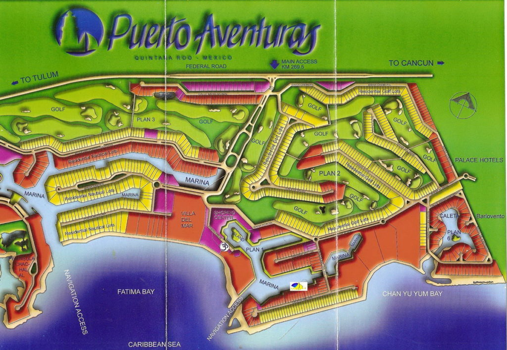 Puerto Aventuras Marina Map