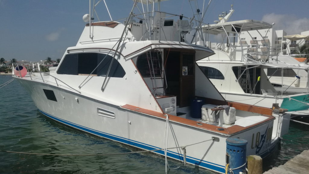 Barco de Pesca Cancun Isla Mujeres 42 pies