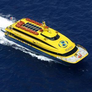 Speed boat Crossing Cozumel Island